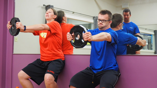 Andrew Cameron special need physical training - wall sits